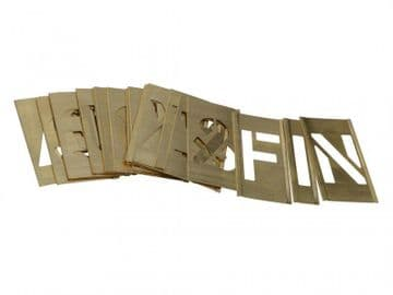 Set of Brass Interlocking Stencils - Letters 1in
